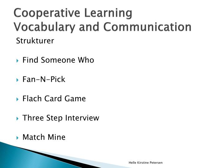 Cooperative learning vocabulary and communication1