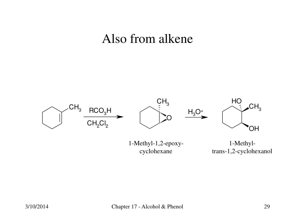 Also from alkene