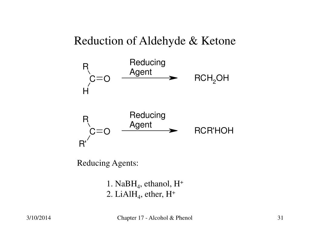 Reduction of Aldehyde & Ketone