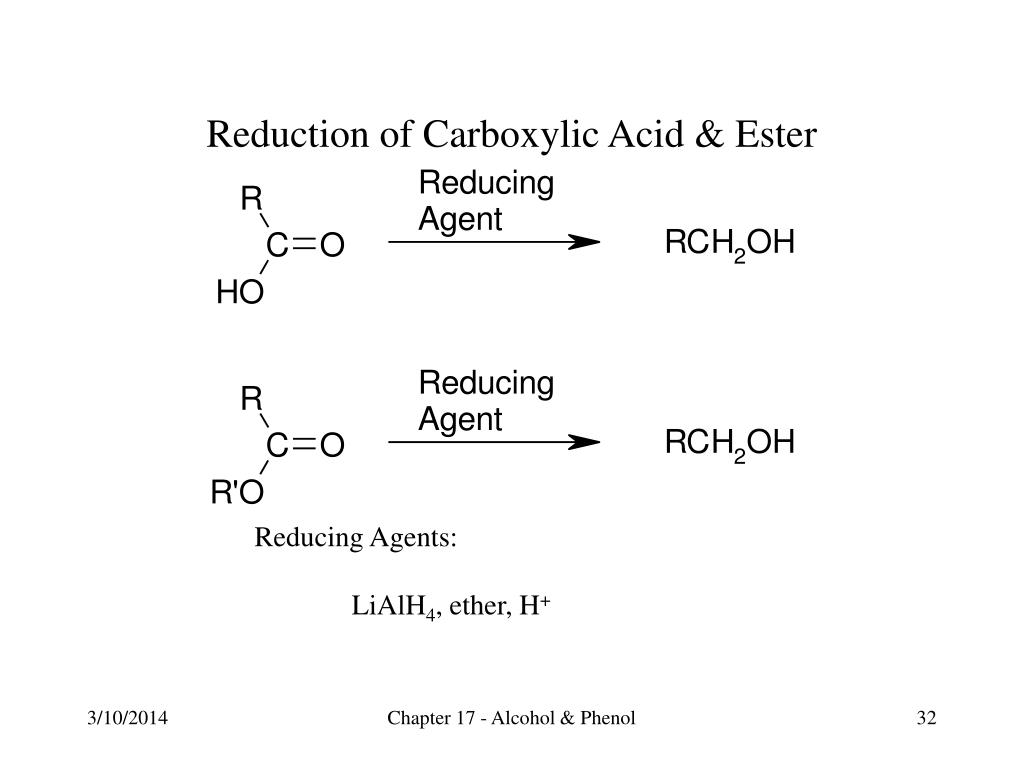 Reduction of Carboxylic Acid & Ester