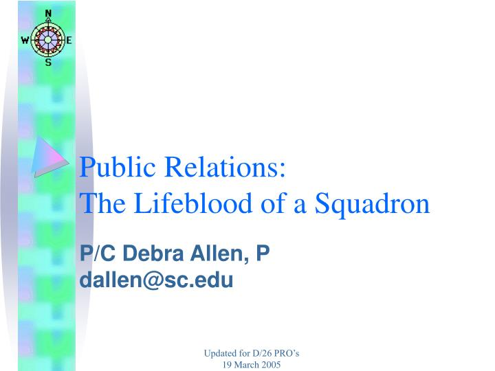 Public relations the lifeblood of a squadron