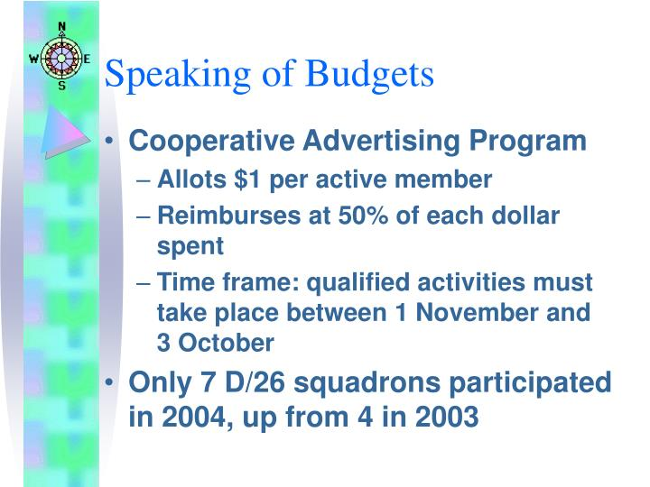 Speaking of Budgets