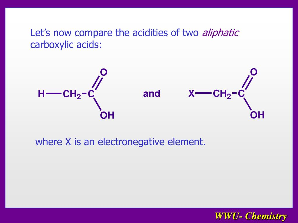Let's now compare the acidities of two