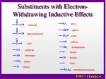 substituents with electron withdrawing inductive effects