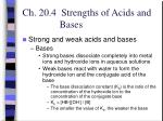 ch 20 4 strengths of acids and bases15
