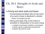 ch 20 4 strengths of acids and bases16