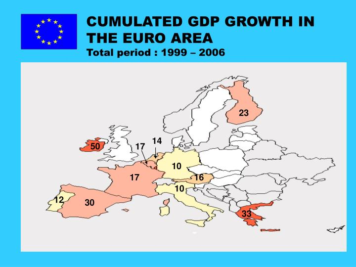 CUMULATED GDP GROWTH IN THE EURO AREA