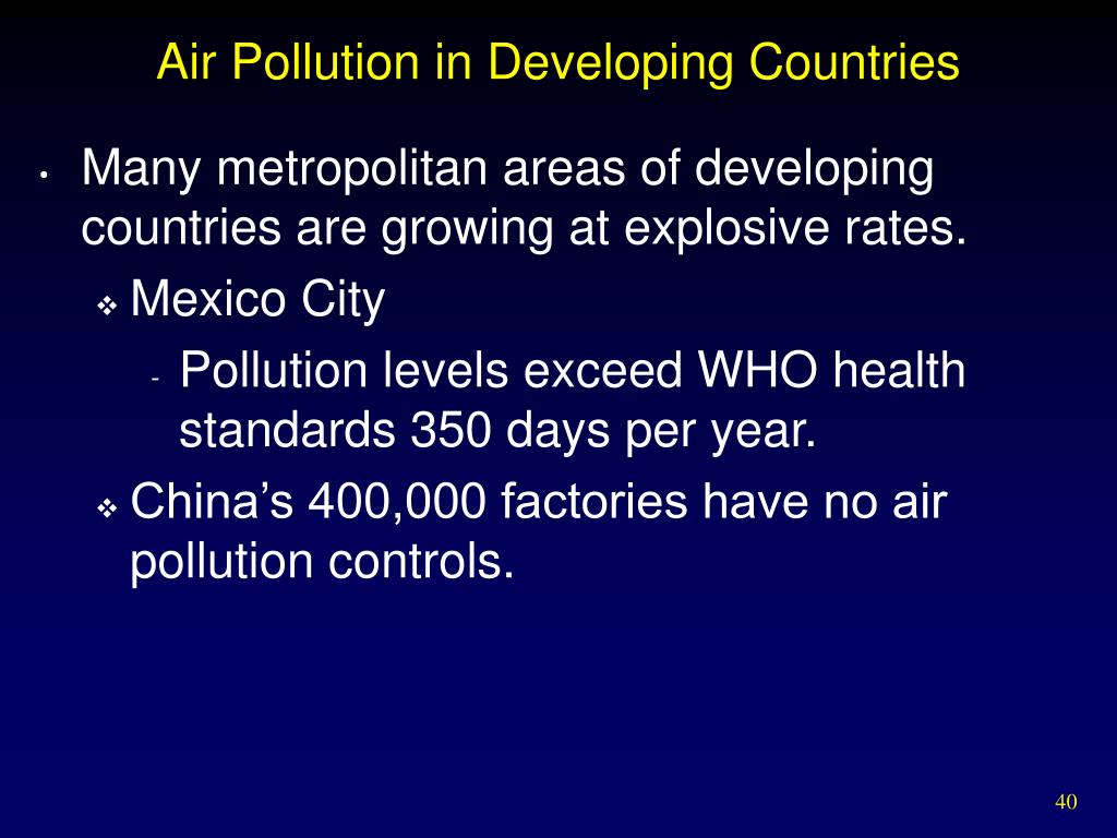 Air Pollution in Developing Countries