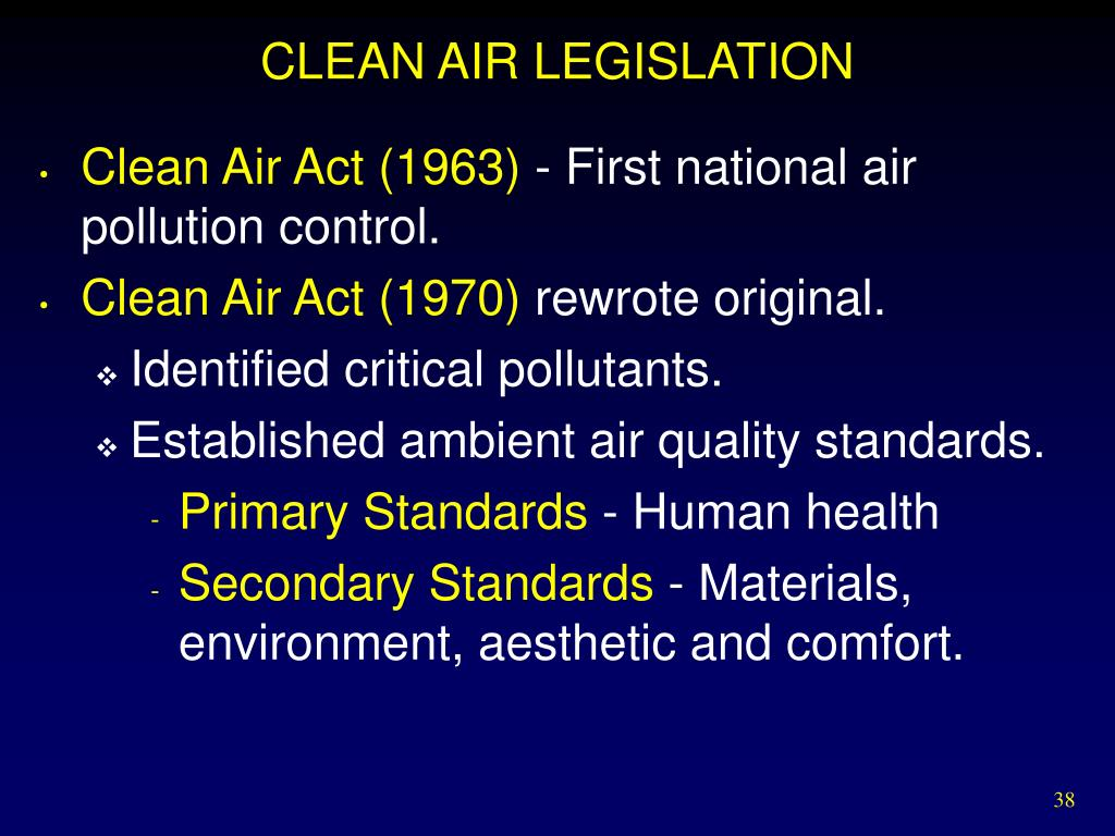 CLEAN AIR LEGISLATION