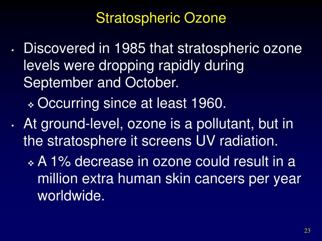 Stratospheric Ozone