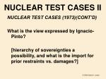 nuclear test cases ii