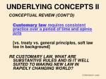 underlying concepts ii