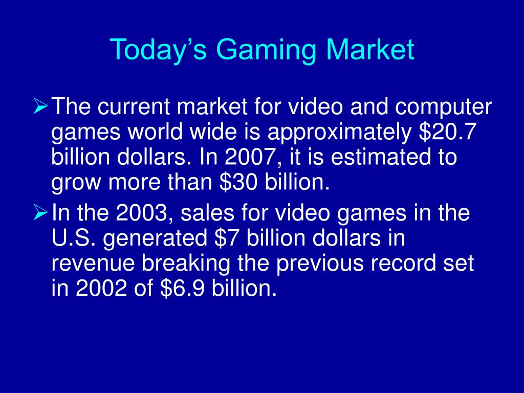 Today's Gaming Market