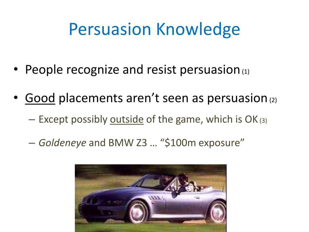 Persuasion Knowledge