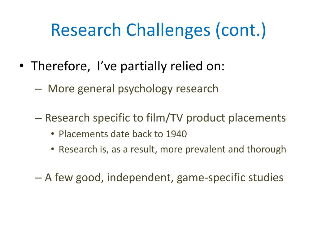 Research Challenges (cont.)