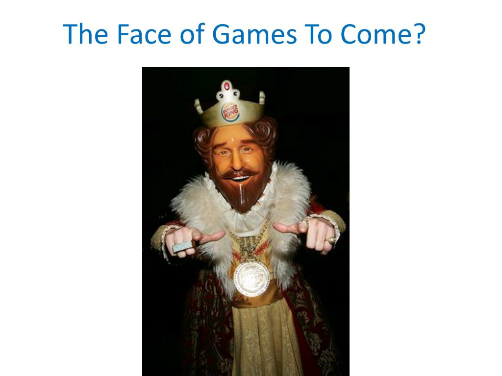 The Face of Games To Come?