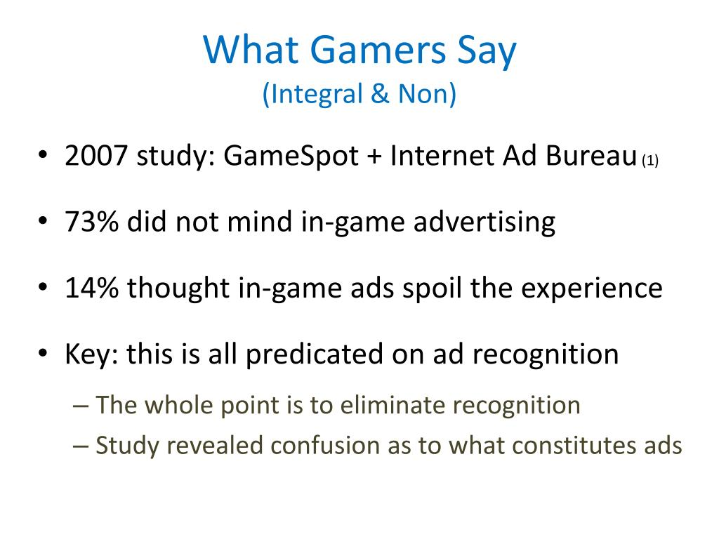What Gamers Say