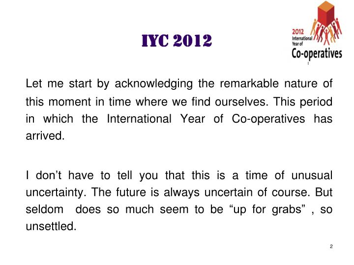 Iyc 2012