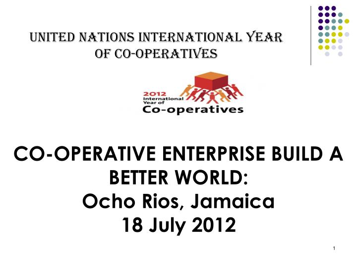 United Nations International Year of Co-operatives