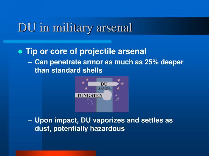 DU in military arsenal