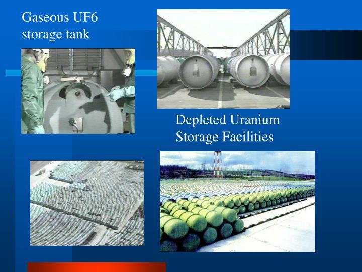 Gaseous UF6 storage tank