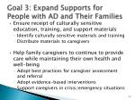 goal 3 expand supports for people with ad and their families