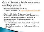 goal 4 enhance public awareness and engagement