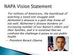 napa vision statement