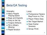 beta qa testing