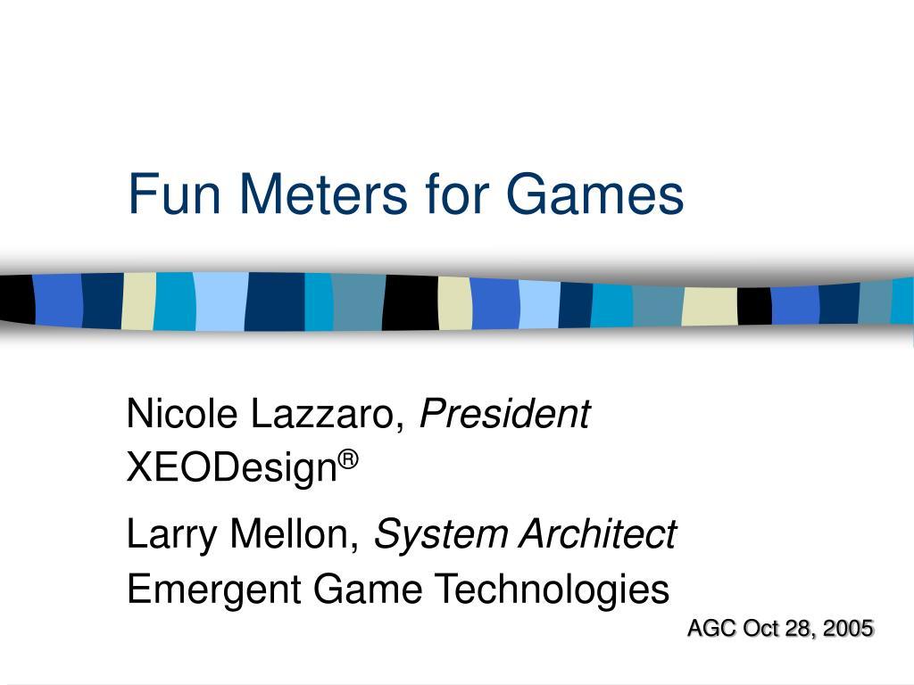 fun meters for games l.
