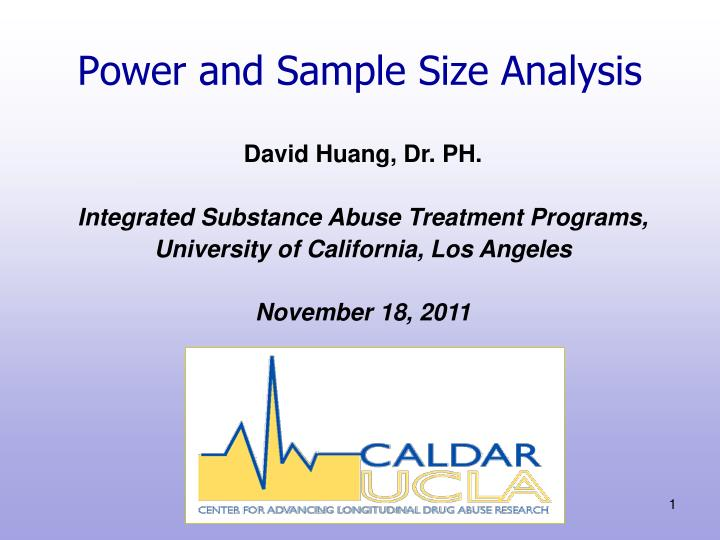 power and sample size analysis n.