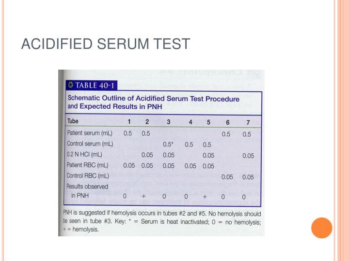 ACIDIFIED SERUM TEST