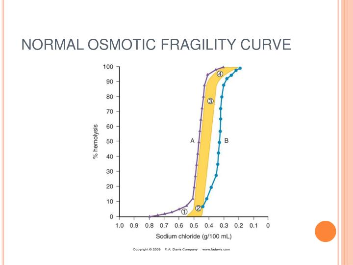 NORMAL OSMOTIC FRAGILITY CURVE