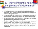 ict play a influential role in the process of e governance