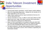 india telecom investment opportunities
