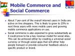 mobile commerce and social commerce