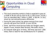opportunities in cloud computing