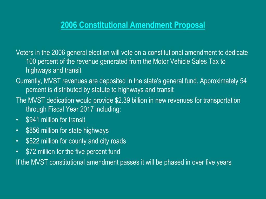 2006 Constitutional Amendment Proposal