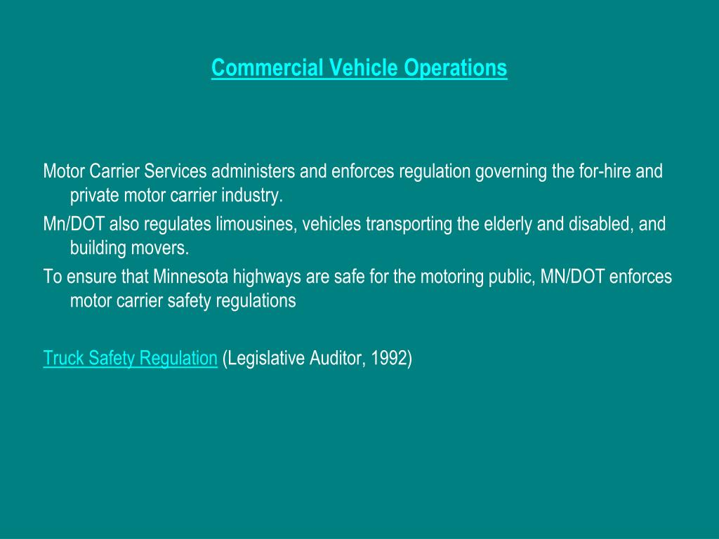 Commercial Vehicle Operations