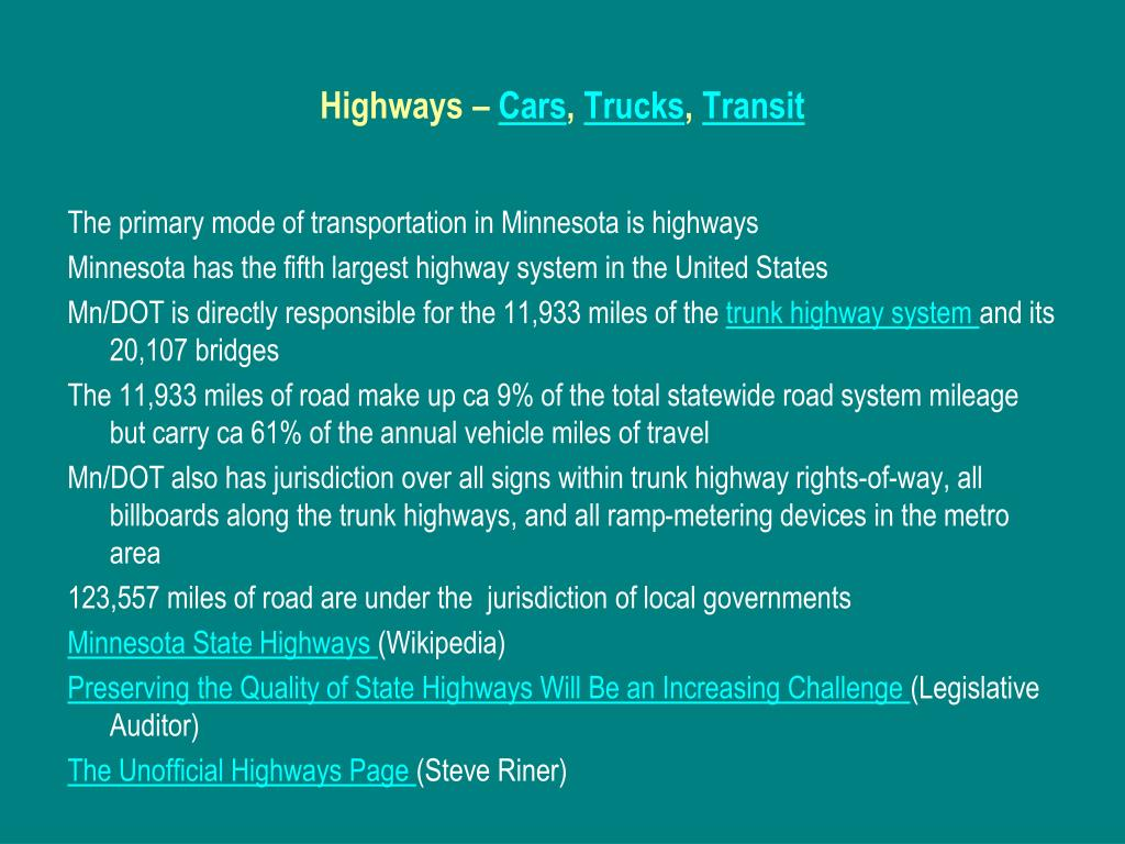 Highways –