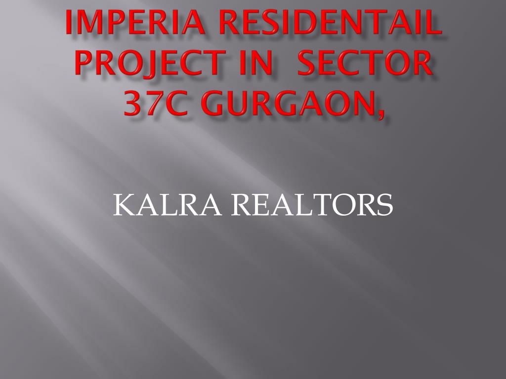 imperia residentail project in sector 37c gurgaon l.
