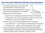 non parametric methods detection using histogram