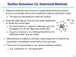 outlier detection 1 statistical methods