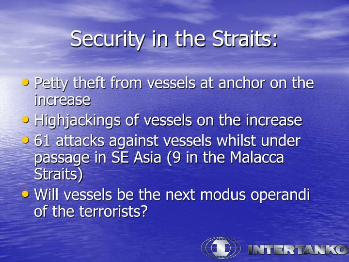Security in the Straits: