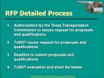rfp detailed process