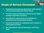 scope of service document