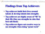 findings from top achievers