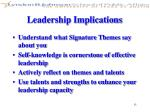 leadership implications