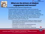 what are the drivers of student engagement and success16