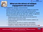 what are the drivers of student engagement and success17